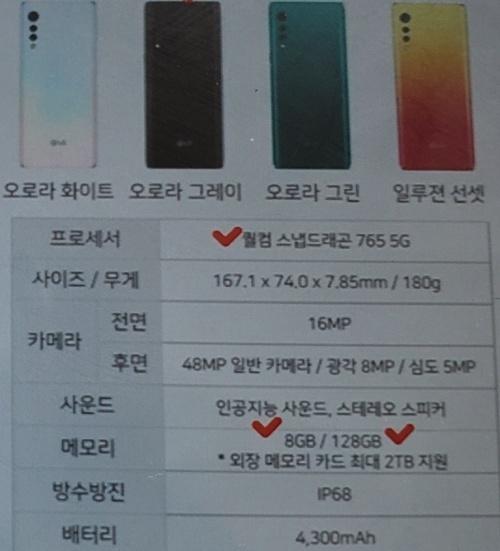 В сеть слили характеристики LG Velvet – фото 3