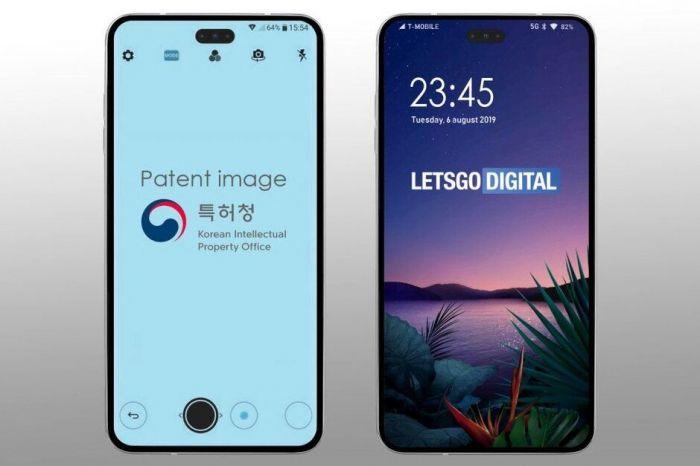 LG запатентовала «безрамочный» смартфон на манер Samsung Galaxy S10+