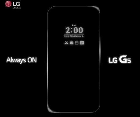 LG G5: официально подтверждено наличие функции активного дисплея – фото 1