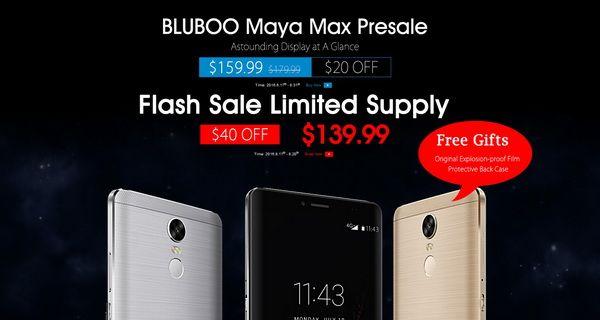 Спешите заказать 6-дюймовый Bluboo Maya Max с камерой Sony IMX214 и аккумулятором на 4200 мАч за $139,99 – фото 1