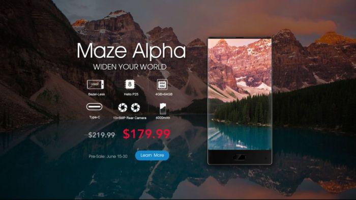 Maze Alpha — доступный и безрамочный смартфон появился в предзаказе – фото 2