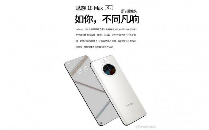 В сети засветились изображения и характеристики Meizu 18 Max 5G – фото 1