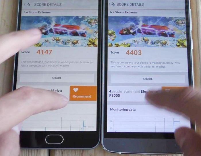 Meizu M2 Note и Elephone P8000 тест производительности