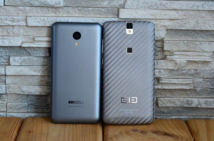 Meizu M2 Note и Elephone P8000 вид сзади