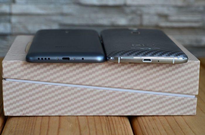Meizu M2 Note и Elephone P8000 нижний торец