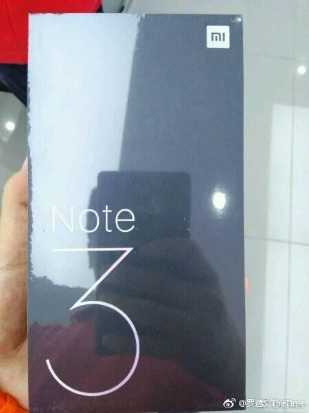 Китайцы показали коробку Xiaomi Mi Note 3 – фото 2