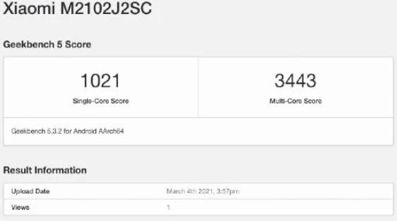 Обновленный Xiaomi Mi 10 с Snapdragon 870 засветился на тестах в GeeckBench – фото 2