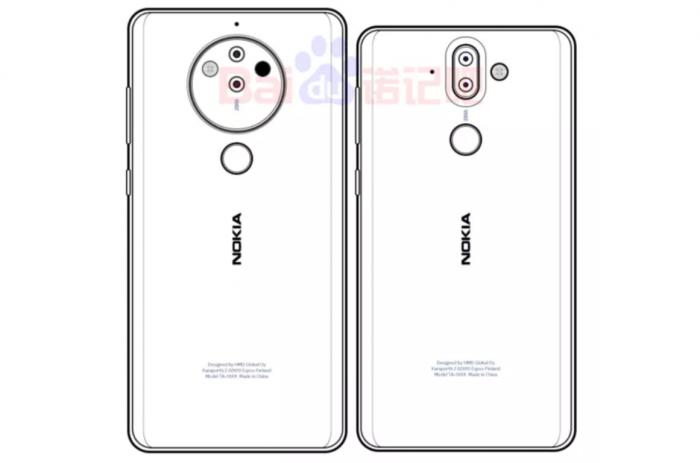 Эскиз Nokia 10 с 5-линзовой камерой – фото 1
