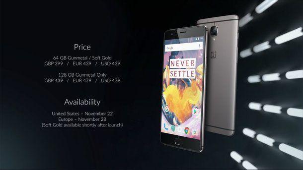 Стали известны цены OnePlus 3T в различных странах – фото 1