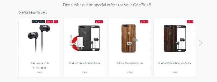 В США и Канаде покупатели OnePlus 5 с 128 Гб ПЗУ получают в подарок гарнитуру – фото 1