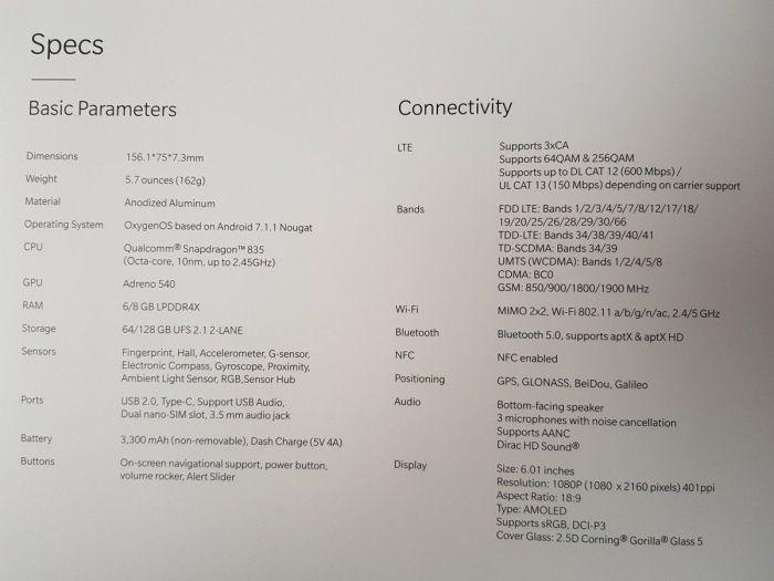 OnePlus 5T: неофициальный анонс состоялся, раскрыты все характеристики флагмана – фото 8