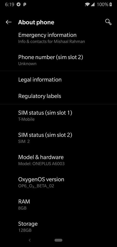 Для OnePlus 6 вышла OxygenOS Open Beta 2 – фото 3