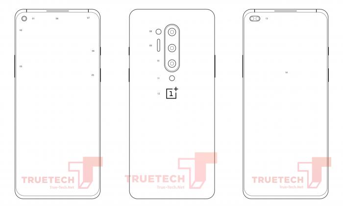 Показали эскизы OnePlus 8 Pro
