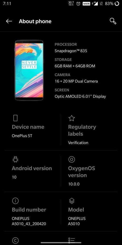 OnePlus 5 и OnePlus 5T можно будет обновить до Android 10 – фото 2