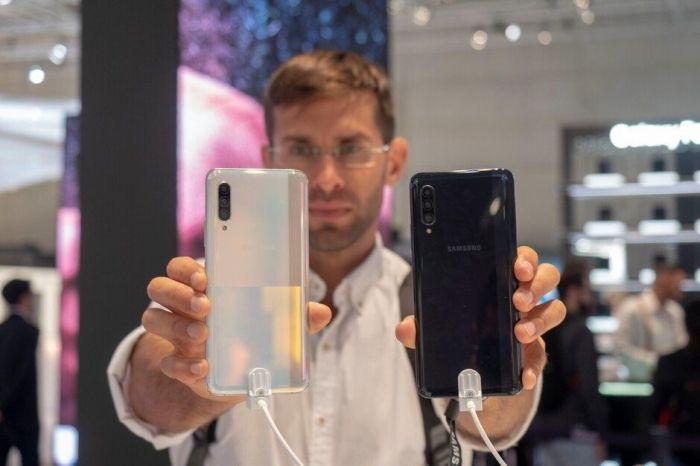 перламутовый и черный Samsung Galaxy A91, Samsung