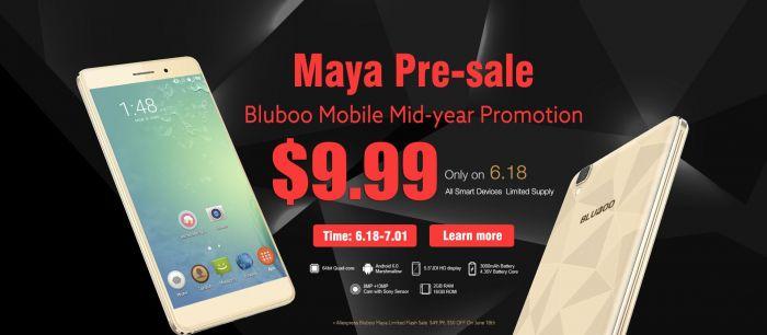 Bluboo дает шанс купить Bluboo Maya, X9, Xfire, Xtouch, Picasso и Uwatch за $9.99 – фото 1