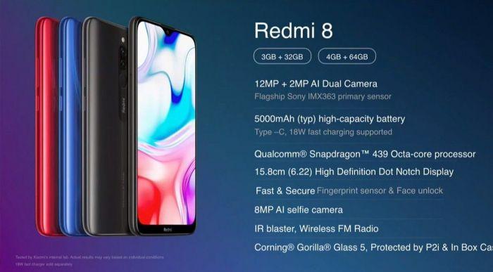 Redmi 8 характеристики