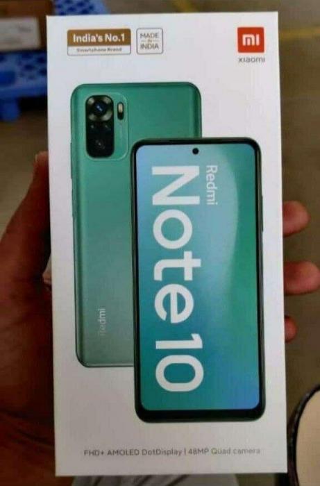 Упаковка Redmi Note 10. AMOLED-дисплей будет. ОБНОВЛЕНО – фото 1