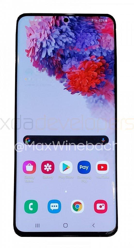Samsung Galaxy S20+ 5G впервые на «живых» фото