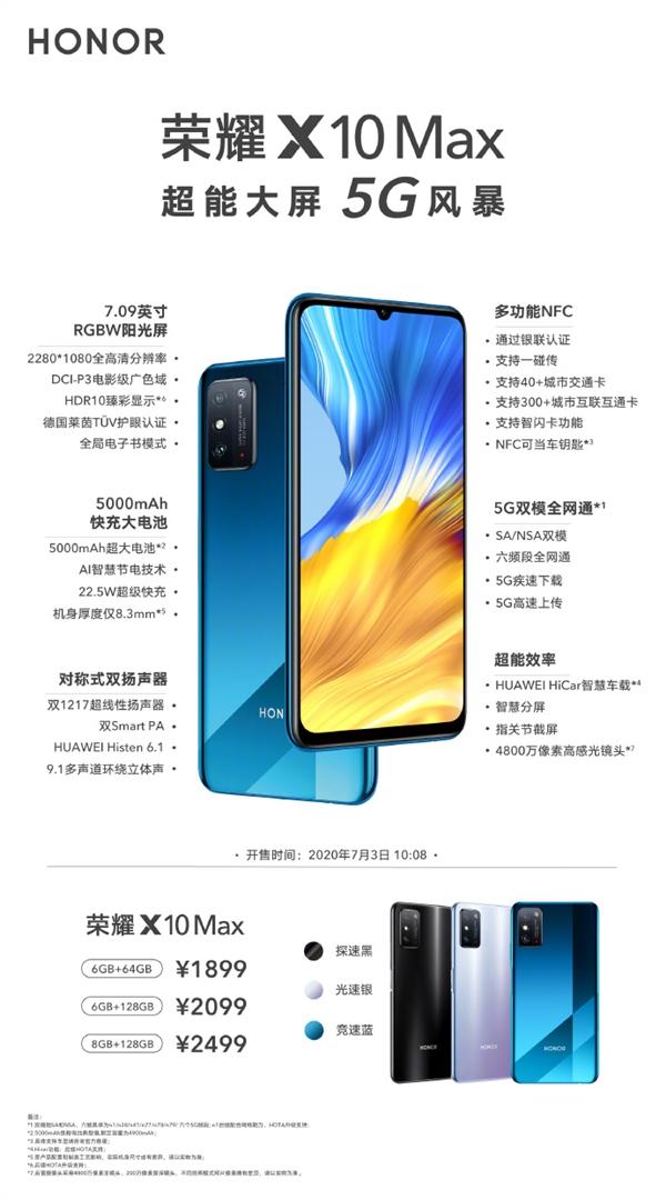 Анонс Honor X10 Max: большой брат c NFC – фото 8