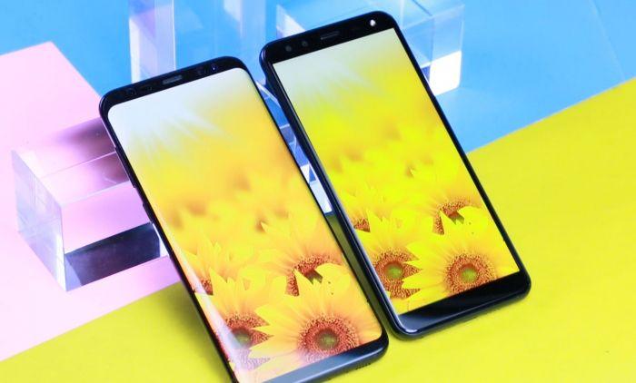 Сравнение экранов Leagoo S8 и Samsung Galaxy S8 Plus – фото 1