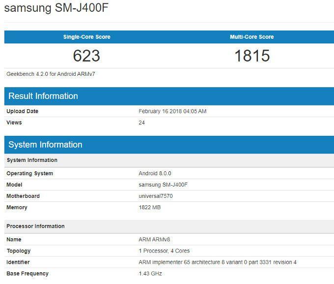 Samsung Galaxy J4 (2018) впервые дал о себе знать – фото 2