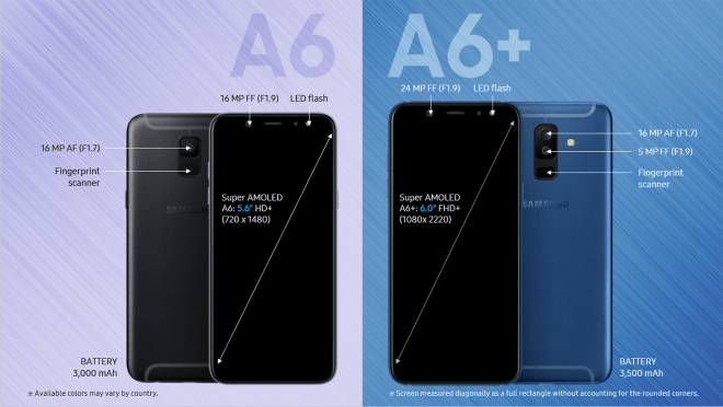 Samsung Galaxy A6 и Galaxy A6+: пресс-изображения и все характеристики – фото 2