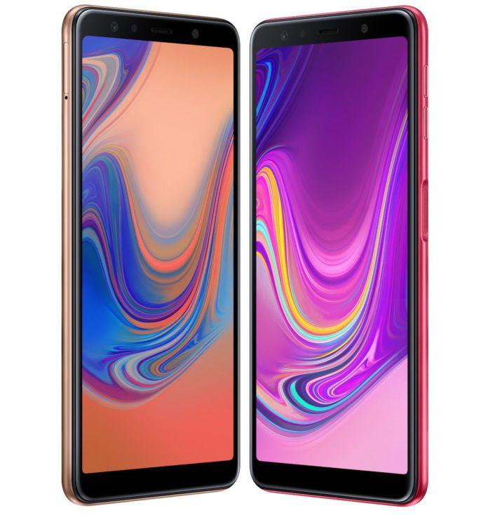 Анонс Samsung Galaxy A7 (2018): тройная камера и дактилоскопический датчик на боку – фото 3