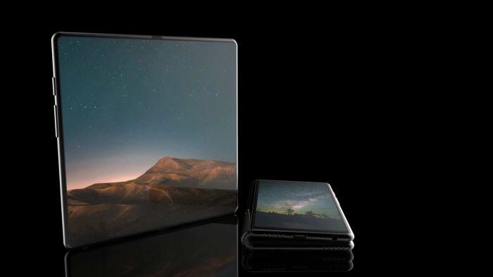 Концепт складного смартфона Samsung с гибким дисплеем – фото 1