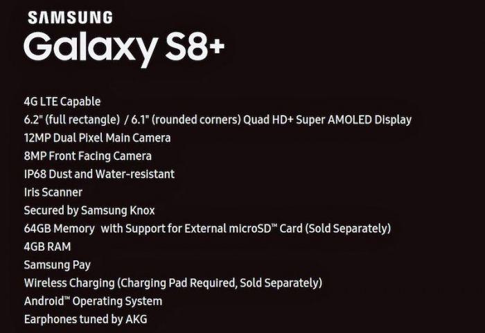 Samsung Galaxy S8+: раскрыты характеристики флагмана – фото 1