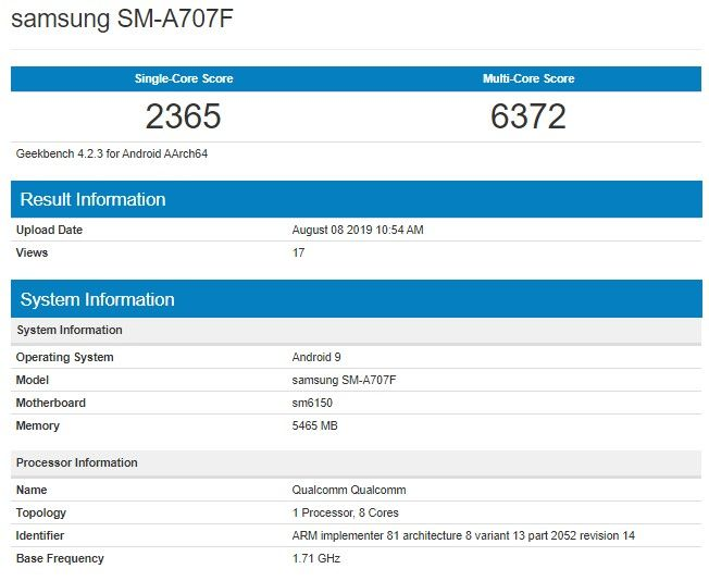 Рассекречена аппаратная платформа Samsung Galaxy A70s – фото 1