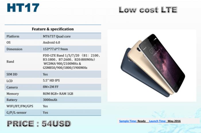 HomTom HT10: полная спецификация еще одной новинки с процессором Helio X20 – фото 2