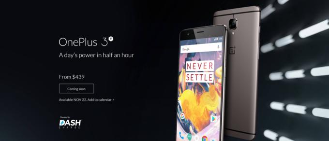 OnePlus 3T: представлена улучшенная версия OnePlus 3 с ценником от $439 – фото 1