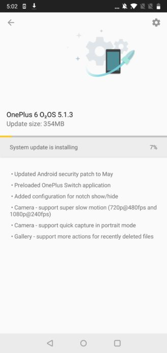 OnePlus 6 получил поддержку Project Treble и бесшовных уведомлений – фото 2