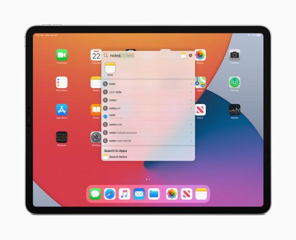 Поиск iPad OS 14
