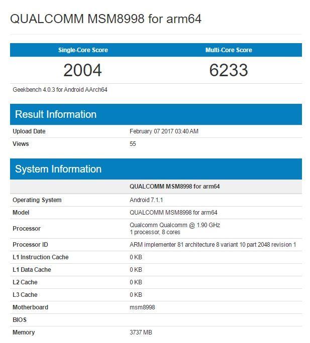Смартфон с Snapdragon 835 прошел тест в Geekbench – фото 2
