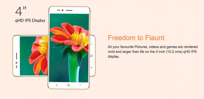 Ringing Bells Freedom 251 – смартфон стоимостью менее $4 с 4-дюймовым дисплеем и 4-ядерным процессором – фото 1