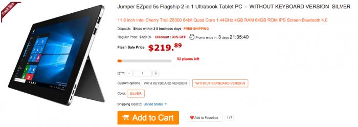 Скидочные купоны на планшеты в магазине Gearbest – фото 2