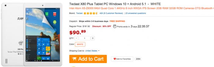 Скидочные купоны на планшеты в магазине Gearbest – фото 1