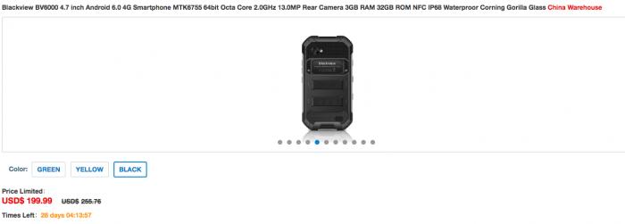 Blackview BV6000: открылся предзаказ на мобильный внедорожник в магазине Everbuying по цене $199,99 – фото 4