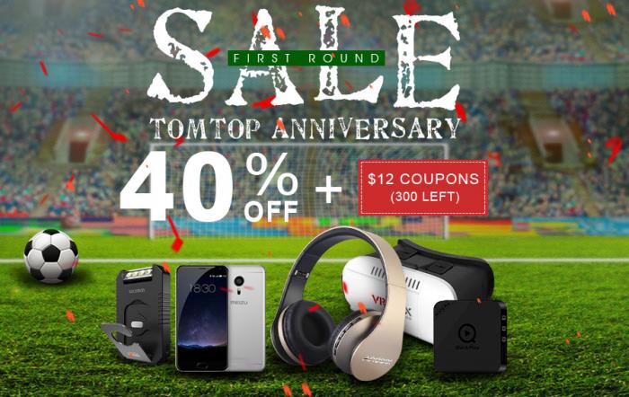 Распродажи в честь 12-летия интернет-магазина TomTop.com и праздничный купон на скидку $12 – фото 1