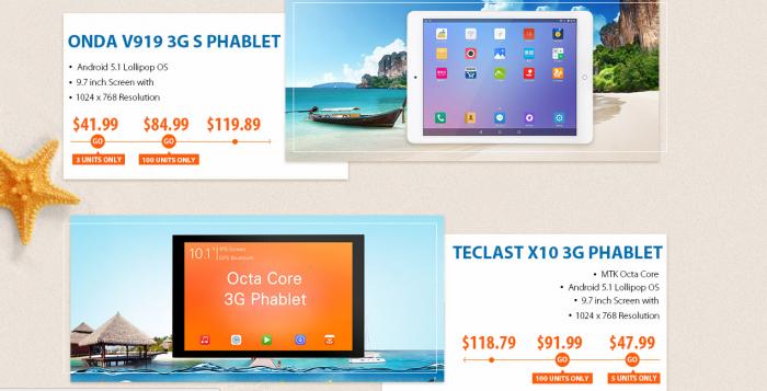 Распродажи планшетов стоимостью до $100 в магазине Gearbest.com – фото 2