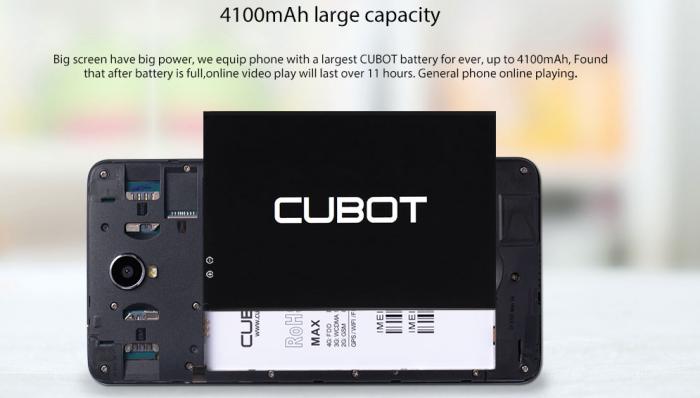 6-дюймовый Cubot Max с аккумулятором на 4100 мАч за $119.99 в магазине Gearbest.com – фото 3