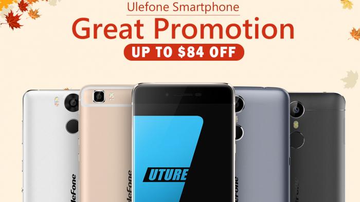 Осенняя распродажа Ulefone Power, Future и Metal в магазине Tomtop.com – фото 1