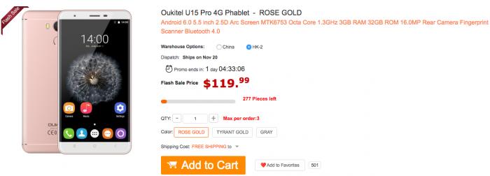 Стильный Oukitel U15 Pro в магазине Gearbest.com всего за $119.99 – фото 1