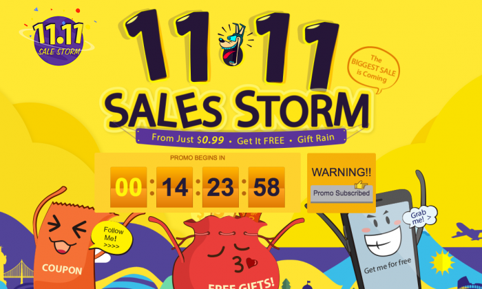 Распродажа 11.11 к Дню Холостяков в магазине Gearbest.com – фото 1