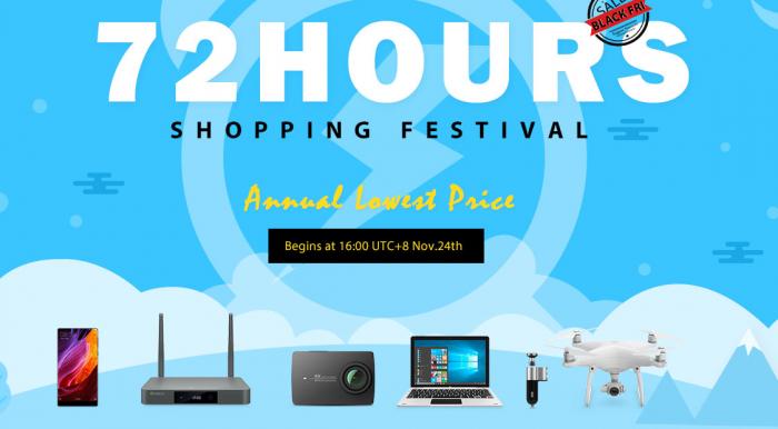 72-часовая распродажа в честь Черной пятницы в магазине Geekbuying.com – фото 1