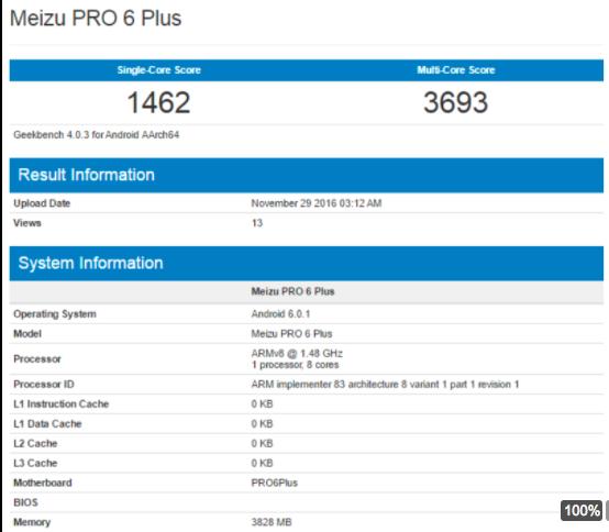 Meizu Pro 6 Plus засветился в Geekbench – фото 1