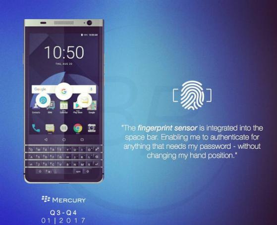 BlackBerry Mercury на рендерах с изогнутым дисплеем и QWERTY-клавиатурой – фото 1