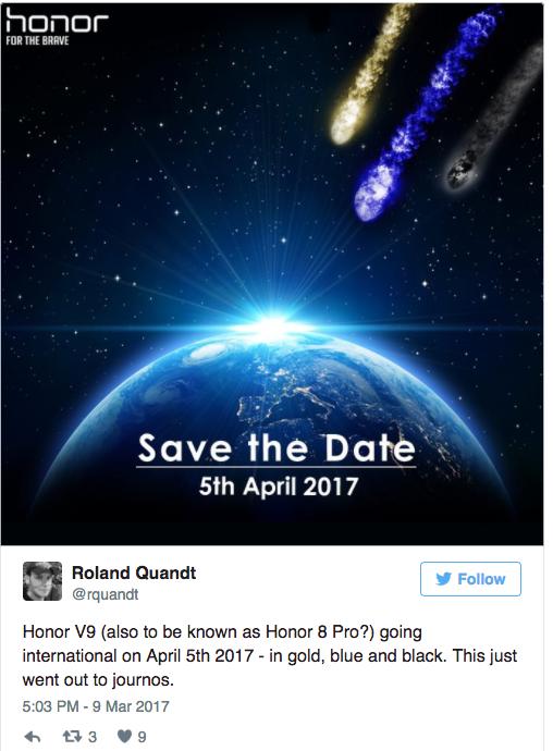 Honor V9 дебютирует 5 апреля на рынке Европы как Honor 8 Pro – фото 2